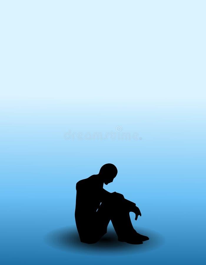 Person mit dem Blau lizenzfreie abbildung