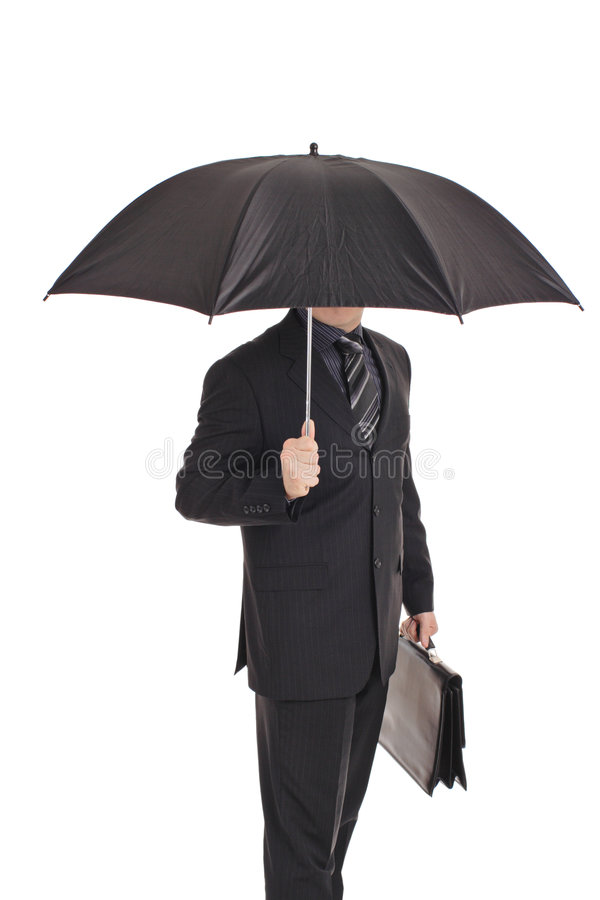 Person mit einem Regenschirm lizenzfreies stockfoto