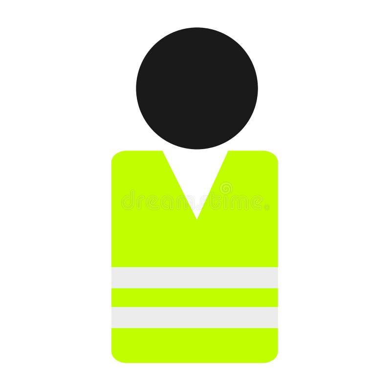 Person mit gelber Weste - hohe Sichtkleidung für Schutz und Sicherheit des Trägers vektor abbildung