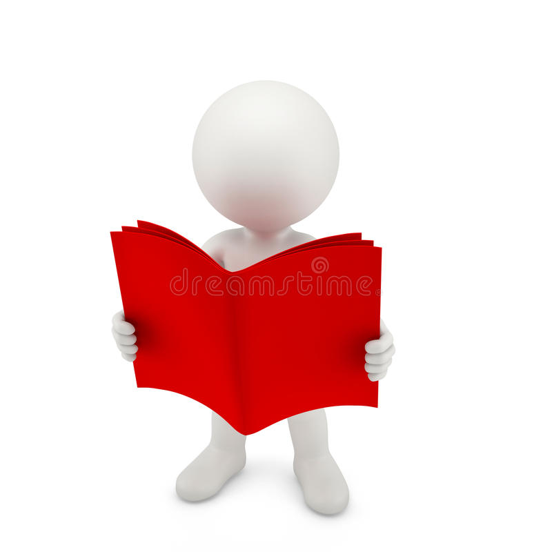 Person with a opened red book royalty free illustration