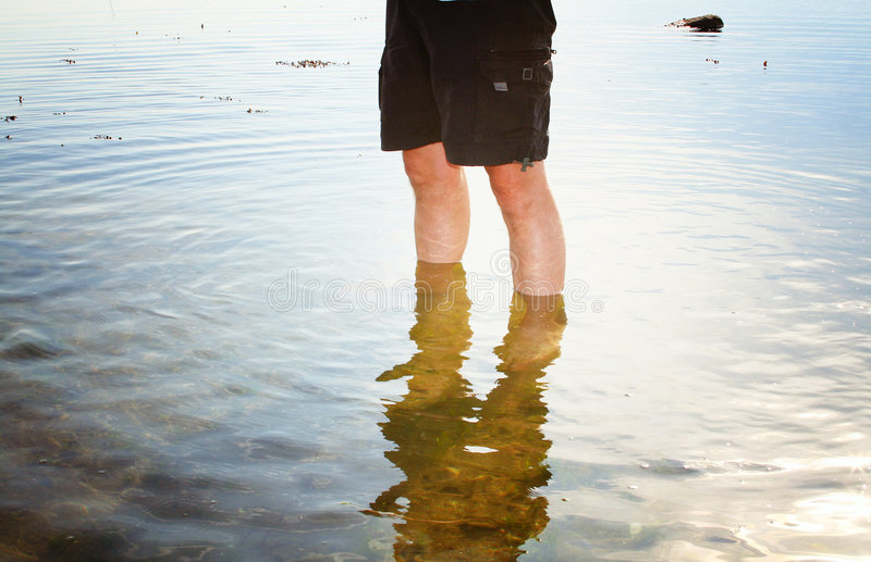 Download Person paddling in sea stock image. Image of adult, seashore - 2400885