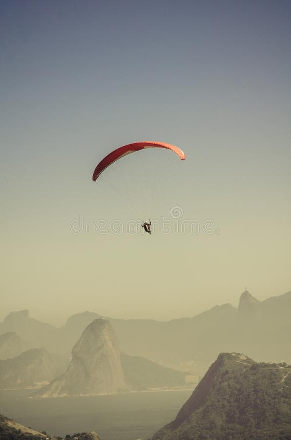 Person In Parachute Gliding Above Mountains Free Public Domain Cc0 Image