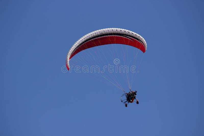 Person Paragliding during Daytime stock photos