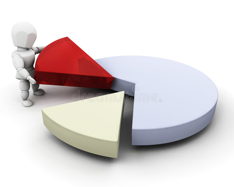 Download Person with pie chart stock illustration. Image of chart - 4865920