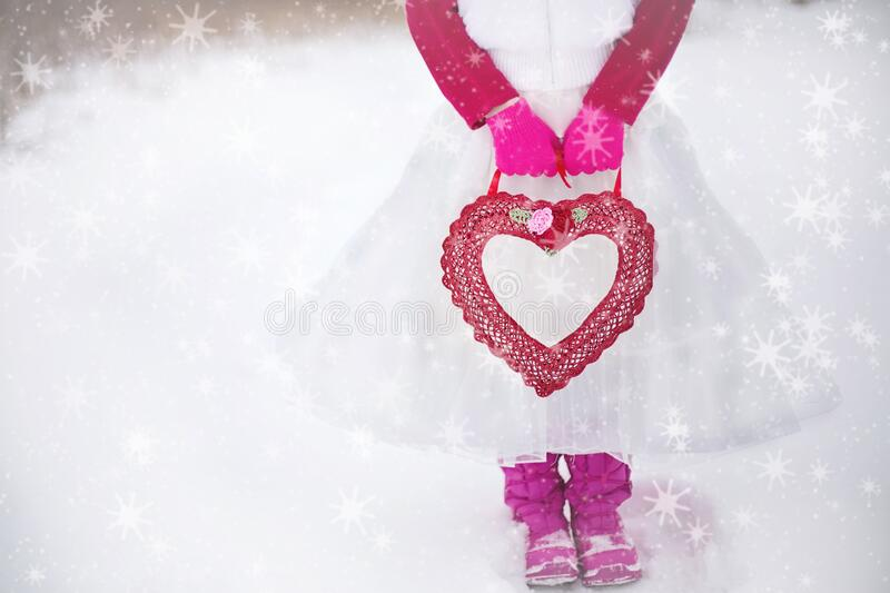 Person In Pink White Dress Holding Red Heart Purse Free Public Domain Cc0 Image