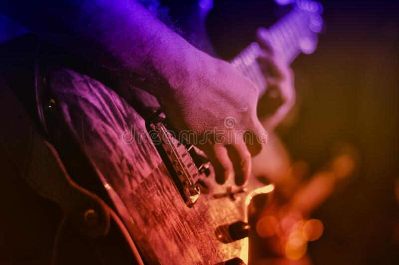 Person Playing String Instruments stock image