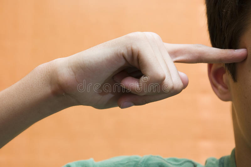 Download Person pointing at temple stock photo. Image of signalling - 10899898