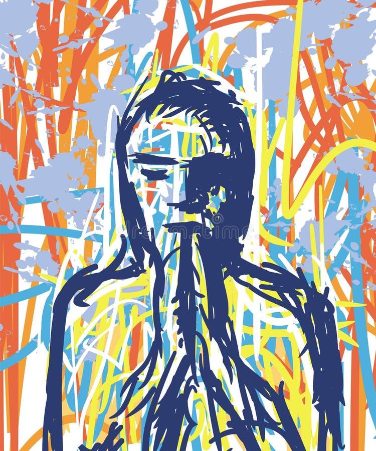 Person Praying vektor illustrationer