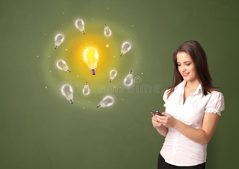 Person presenting new idea concept royalty free illustration