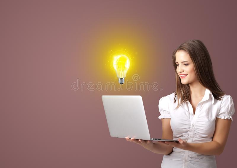 Person presenting new idea concept stock photos