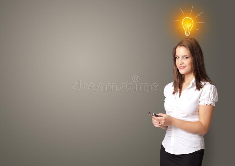 Person presenting new idea concept royalty free stock photos