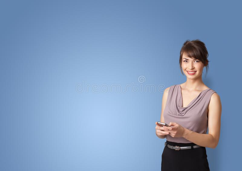 Person presenting something with empty space royalty free stock photos