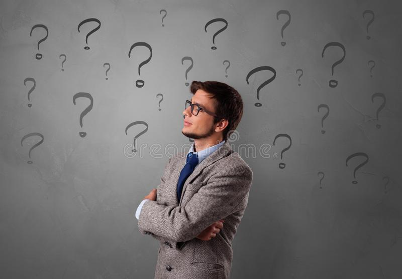 Person with question concept royalty free stock photography