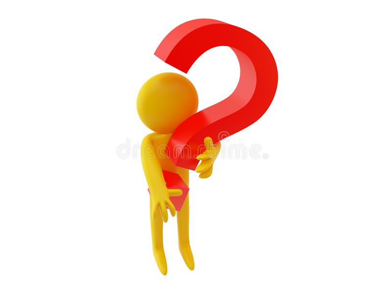 Person and Question mark stock photos
