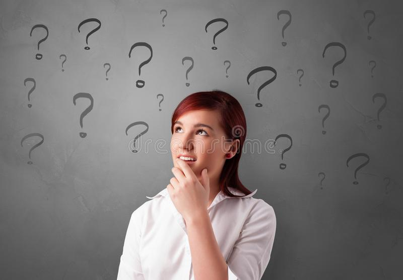 Person with question concept stock photography