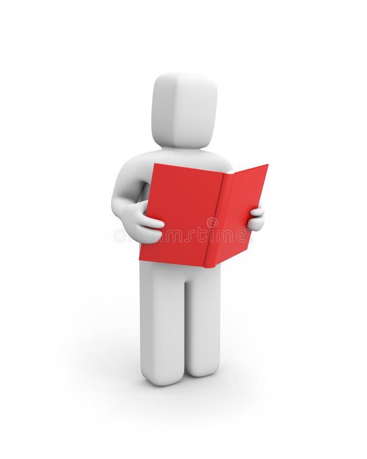 Person read the book vector illustration