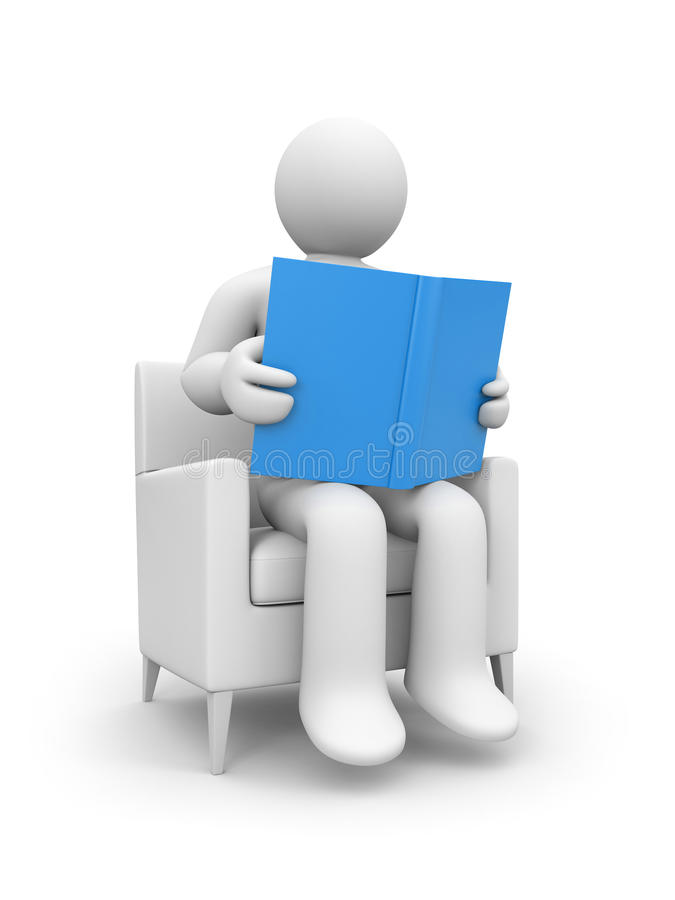 Person read the book royalty free illustration