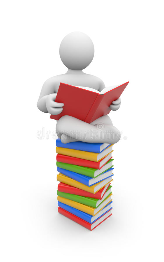 Download Person read book stock illustration. Image of paper, information - 18847035
