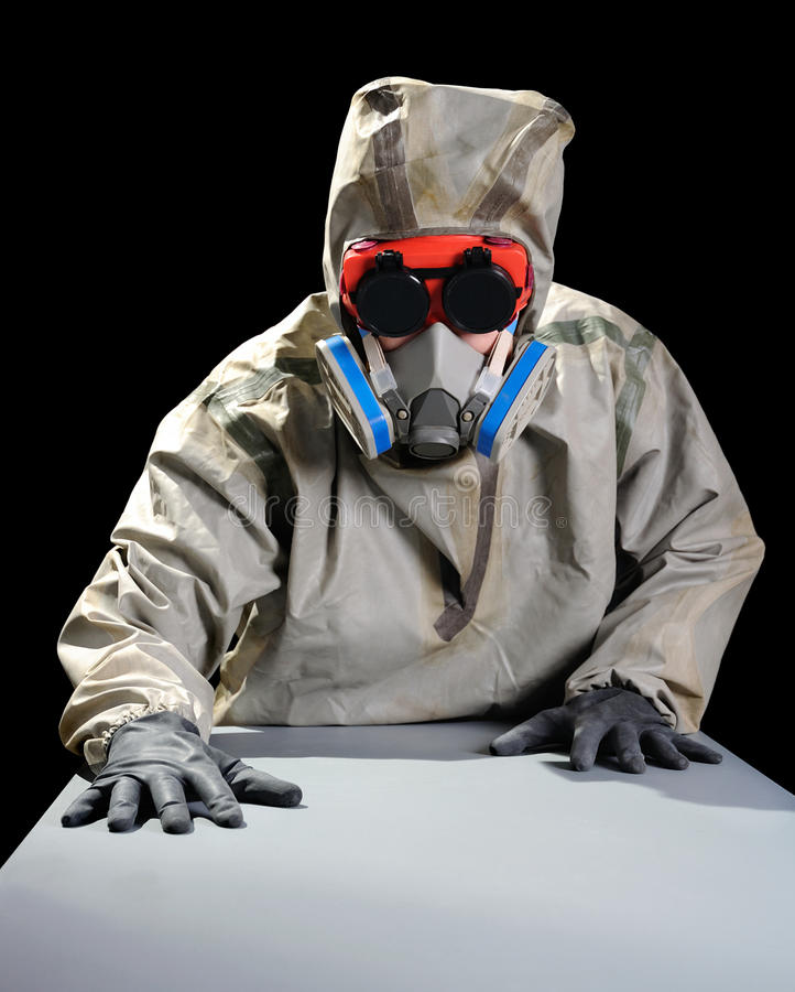 Download The person with respirator stock image. Image of chemical - 17974557