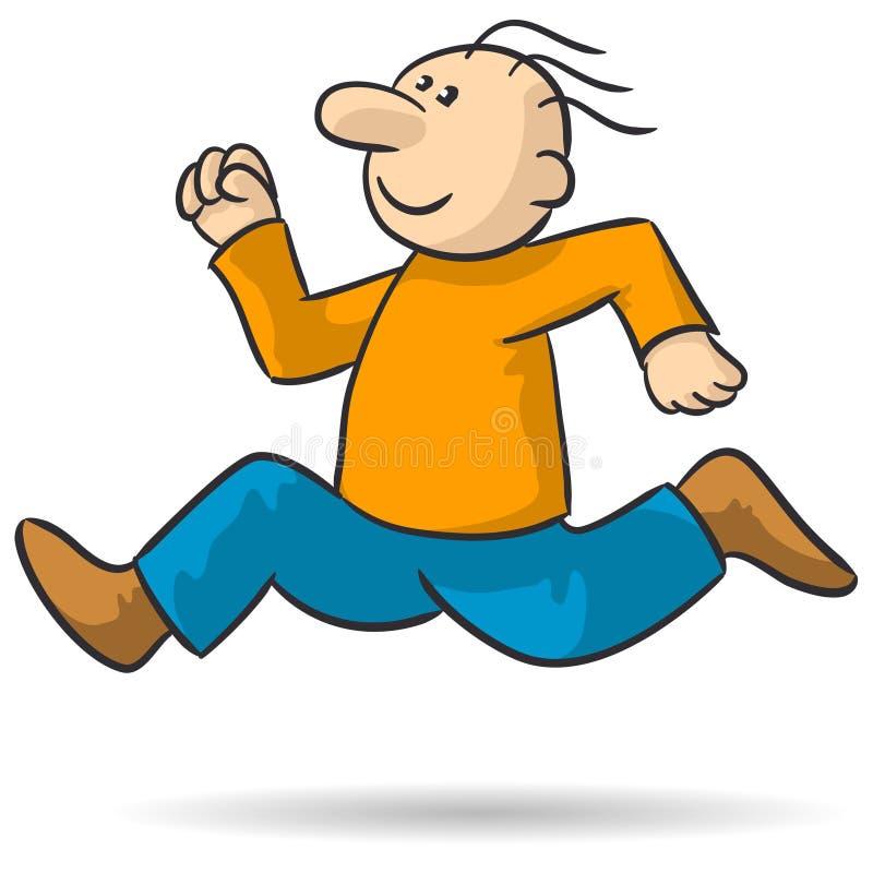 Person running stock illustration