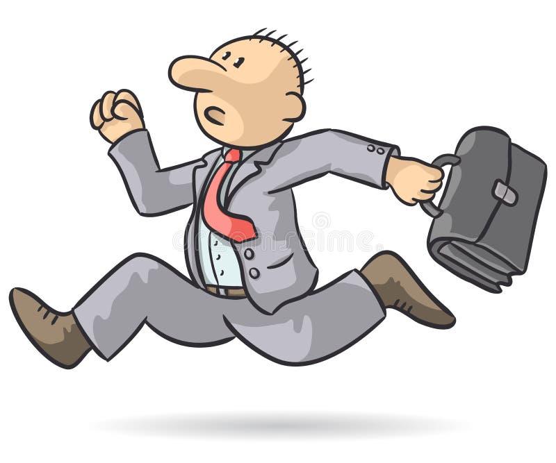 Person running vector illustration