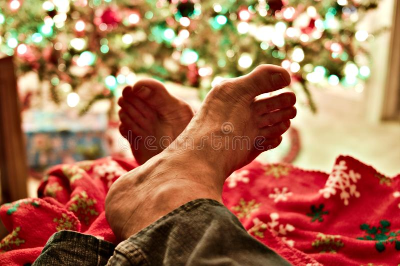 Person's Left and Right Feet royalty free stock images