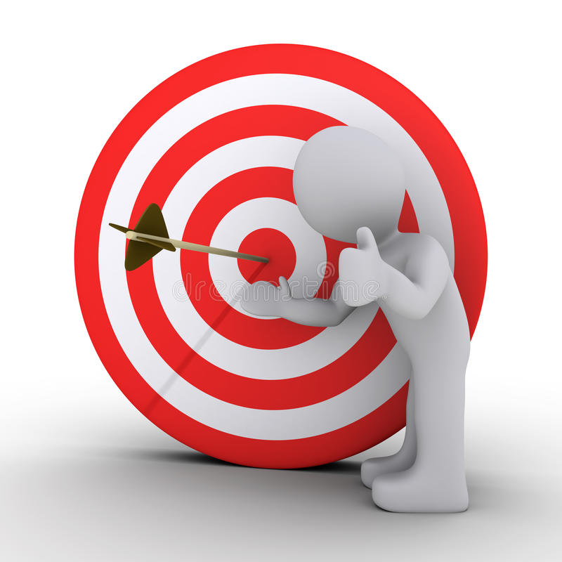 Download Person Showing An Arrow In The Center Of Target Stock Photography - Image: 23359062