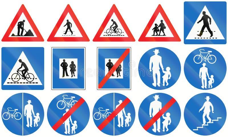 Person Signs en Autriche illustration stock
