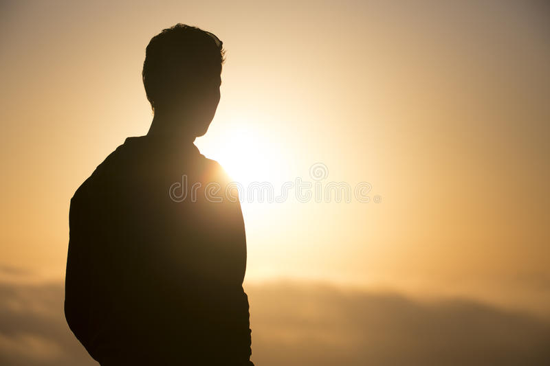 Person Silhouette stock foto