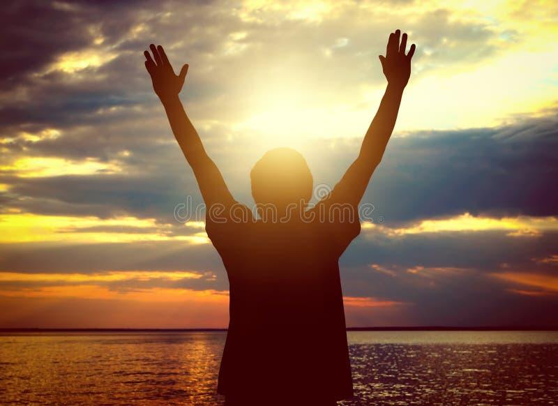 Person Silhouette feliz imagens de stock royalty free