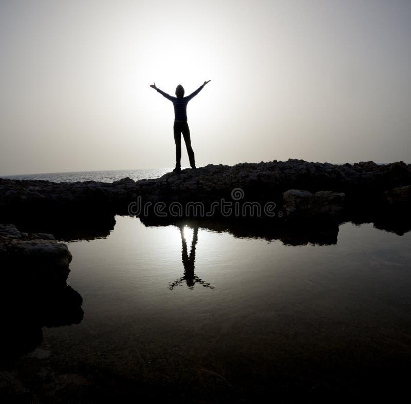Person Silhouette heureux photos libres de droits