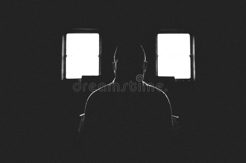Person Sitting In Dark Room With 2 Window Free Public Domain Cc0 Image