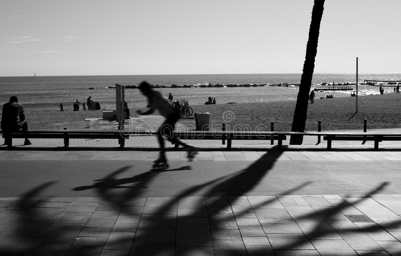 Person Skating On Road In Grayscale Photography Free Public Domain Cc0 Image