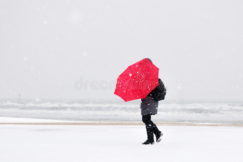 Download Person In The Snow Stock Photo - Image: 30473010