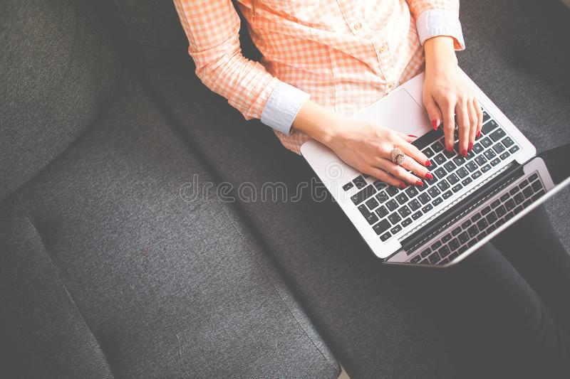Person On Sofa With Laptop Free Public Domain Cc0 Image
