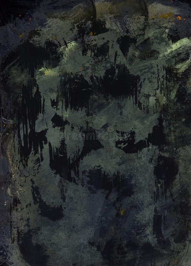 Person som lider av depression som frustrerar modern konstbakgrund royaltyfri bild