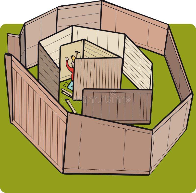 Person som skapar gränser vektor illustrationer