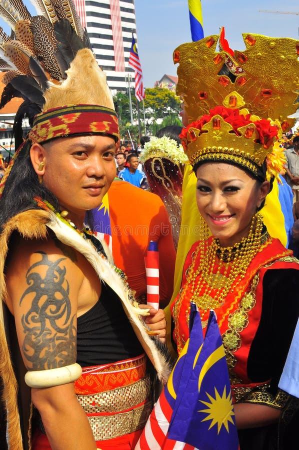 person som tillhör en etnisk minoritet flags malaysia den mång- nationalen fotografering för bildbyråer