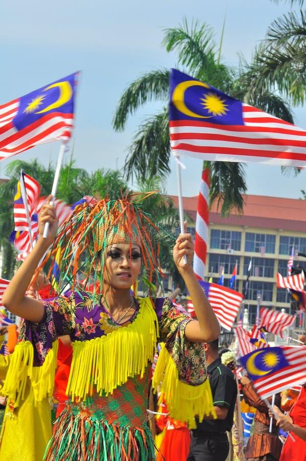 person som tillhör en etnisk minoritet flags malaysia den mång- nationalen arkivfoton