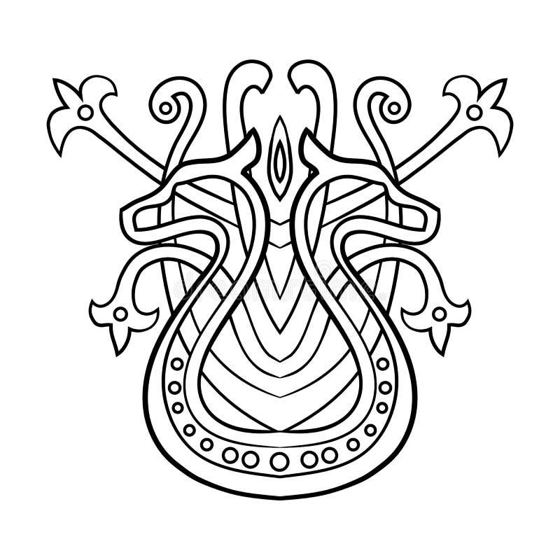 Person som tillhör en etnisk minoritetabstrakt begreppmodell med drakar Vektorillustrationisolat stock illustrationer