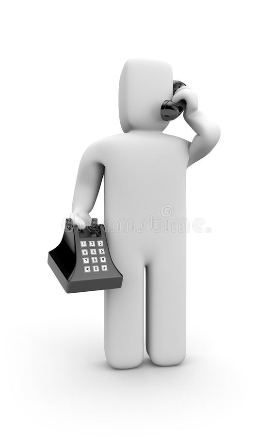 Person Speak By Phone Stock Photos