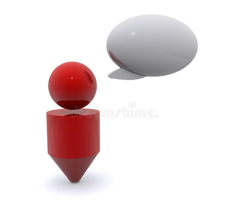Download Person and speech bubble stock photo. Image of copy, communication - 21052626