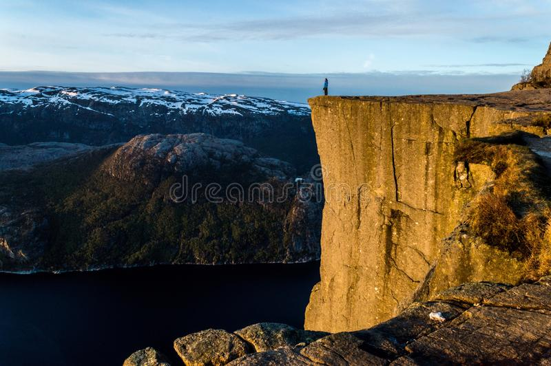 Person Standing On Cliff During Daytime Free Public Domain Cc0 Image