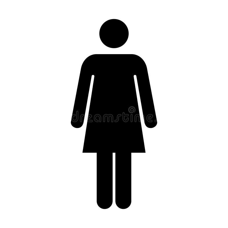 Person Symbol Pictogram för kvinnasymbolsvektor illustration royaltyfri illustrationer