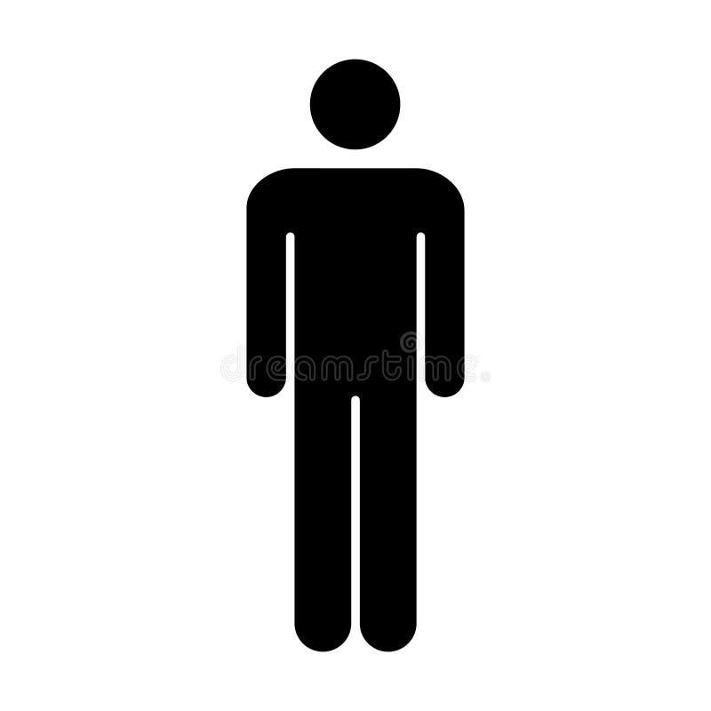 Person Symbol Pictogram för mansymbolsvektor illustration vektor illustrationer