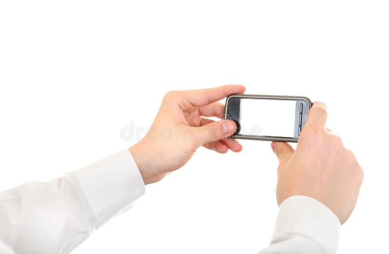 Person Take een Beeld met een Cellphone royalty-vrije stock foto's