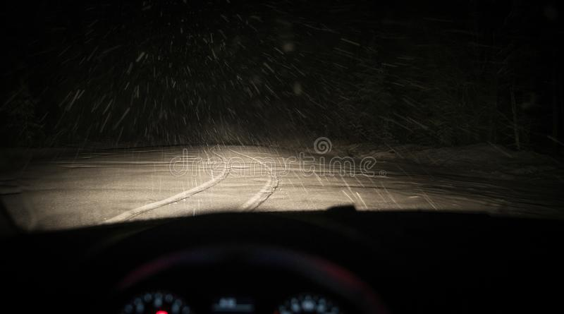 Person Taking Photo of Road Covered With Snow stock photo