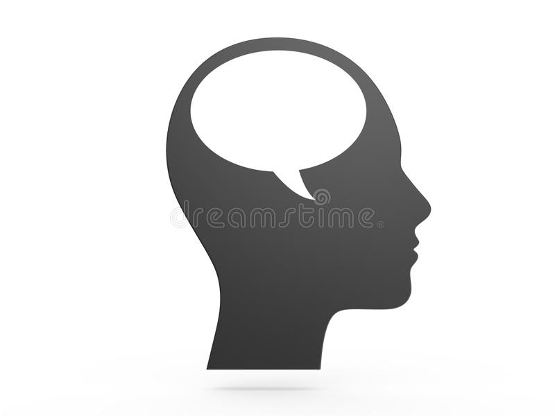 Person Talking Himself simple illustration stock
