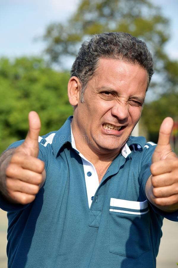 Person With Thumbs Up diverso fotos de stock royalty free