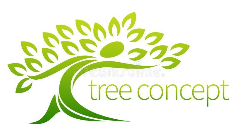 Person tree icon concept stock illustration